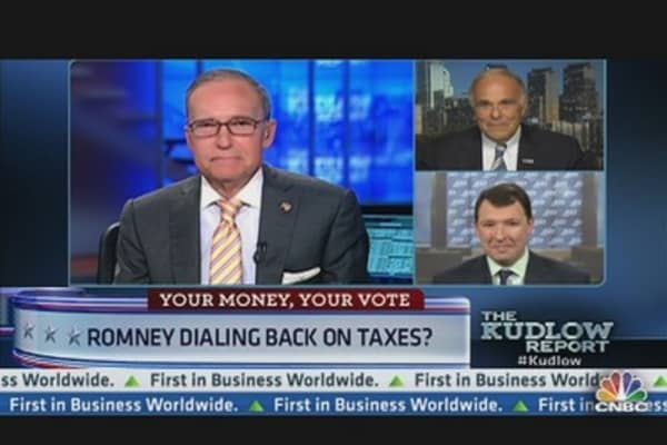 Romney Dials Back on Tax Cuts?