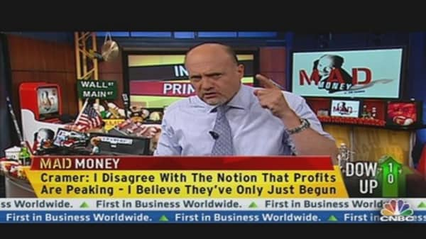 Profits Peaking? They've Just Begun: Cramer
