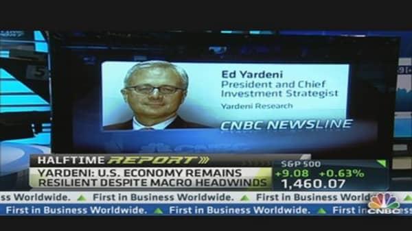 S&P 1,565 in U.S. 'Coiled Spring' Economy: Yardeni