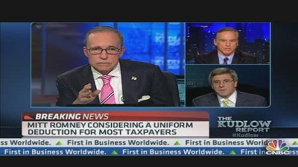 Romney Floats $17,000 Limit on Tax Deductions