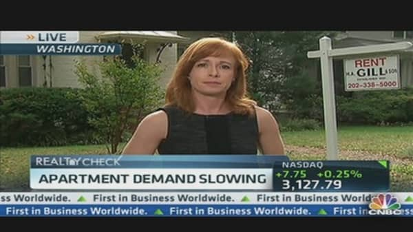 Apartment Demand Slowing