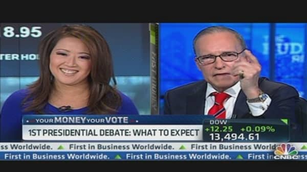 Kudlow's Advice to Romney: Get on Offense