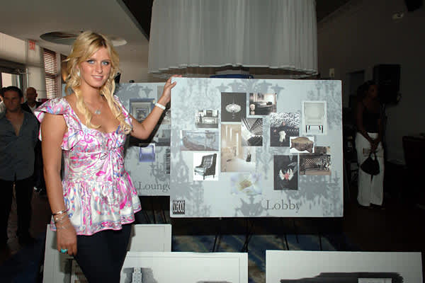 Business: Nicky-O Hotels As an heir to the Hilton family, Nicky Hilton should have the hotel business running through her veins, but her disastrous attempt at starting up her own hotel chain proved otherwise. Hilton's first venture was planned as a 94-room luxury hotel on Miami's Ocean Drive, with a second location planned for Chicago. Italian fashion designer Roberto Cavalli was brought in to design the hotel suites. The hotel was scheduled to open in time for the 2007 Super Bowl in Miami and a