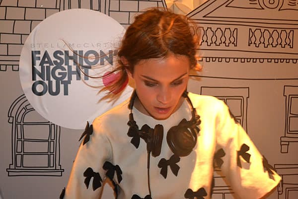 Model Alexa Chung hosted a special DJ set at Stella McCarthy's shop in the New York's Meatpacking District. Vogue's fashion director Tonne Goodman was on hand to offer shoppers and celebrities fashion styling tips.