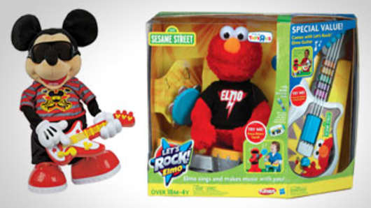 Rocking Disney Rock Star Mickey and Let's Rock Elmo.