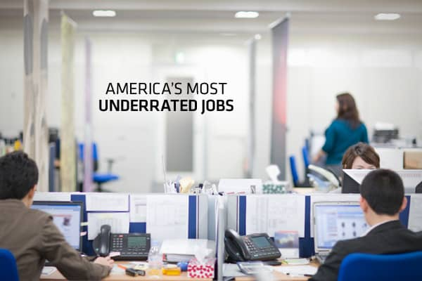 """Although most people can think of prestigious or high-paying jobs, some jobs that are generally thought of as """"normal,"""" or even boring, pay very well and have many great qualities that are easily overlooked, according to which developed the list. CareerCast ranked the most underrated jobs based upon a range of criteria, including low stress levels, low environmental dangers, low physical demands, and median-to-high income levels. The jobs listed here also have a lower-than-average unemployment r"""
