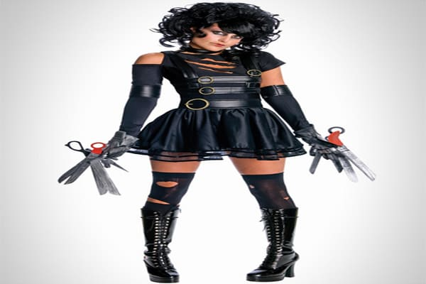 "Retail: $49.99 Movies provide much of the inspiration for Halloween costumes each and every year, but this year there are quite a few costumes that draw inspiration from older movies. One example is , which taps into several trends. It is inspired by the 1990 film ""Edward Scissorhands,"" which was directed by Tim Burton and starred Johnny Depp. But it also has a dark, gothic look, which is also popular at the moment. Other older movies that are inspiring costumes this year include the 1983 film """