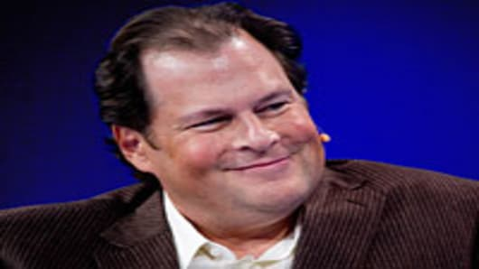 Marc Benioff, chairman and chief executive officer of SalesForce.com Inc.