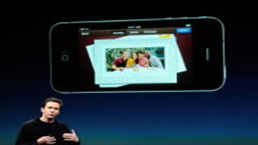Apple's Senior Vice President of iOS Scott Forstall speaks about the new greeting card app at the event introducing the new iPhone 4s at the company's headquarters October 4, 2011 in Cupertino, California. The announcement marks the first time new CEO Tim Cook introduced a new product since Apple co-founder Steve Jobs resigned in August.
