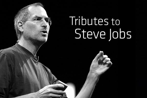Upon the announcement that Steve Jobs passed away on October 5, 2011, public outpouring from individuals, corporations and the media was experienced around the globe. From posts on Twitter and statements by companies to Apple fans congregating outside of the company's stores to show their respect for the visionary who changed the lives of so many. Click ahead for a variety of tributes to Steve Jobs on the eve of his passing. Posted 5 Oct 2011