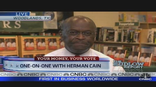 GOP Presidential Candidate Herman Cain