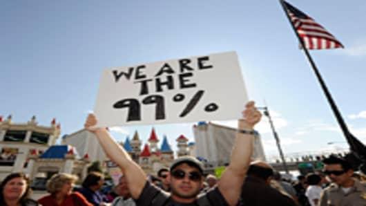 Occupy Las Vegas protester