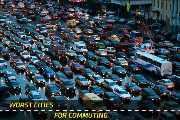 "Recently International Business Machines asked more than 8,000 drivers, or about 40 from each of 20 global cities it surveyed, about their daily commutes. (The 20 cities were selected from the world's top 65 for size and economic activity.) The picture painted by the results of this annual ""Commuter Pain Survey"" was not pretty: A little over 41 percent of respondents believe their commutes have worsened over the last three years. IBM hopes the results will provoke discussion and eventually inspi"