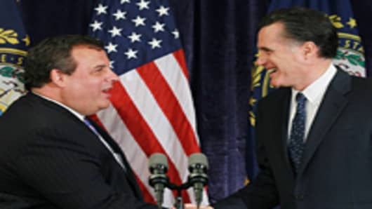Chris Christie Mitt Romney