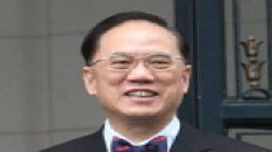 Prince Philippe of Belgium and Hong Kong Chief Executive Donald Tsang pose for a photo at Laeken Castle on September 8, 2011 in Brussels, Belgium.