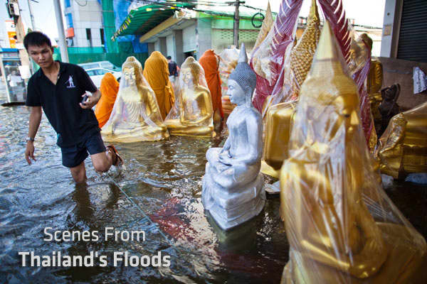Thailand has been affected by the worst flooding in half a century. Surging waters have impacted 27 out of the country's 77 provinces and claimed the lives of approximately 350 residents.The flooding, which made its way to the north of capital Bangkok early last week, shows no signs of abating. The governor of Bangkok on Monday warned residents of the city to brace for floodwaters from neighboring suburban areas.Prime Minister Yingluck Shinawatra said that it could take up to six weeks for the w