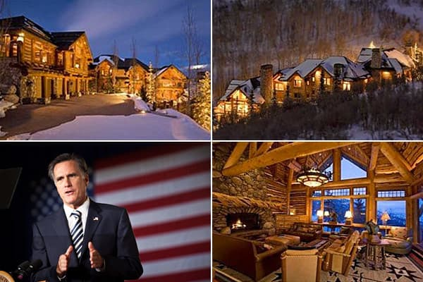 Location: Park City, UtahCost: $5.25 millionBedrooms: 7Bathrooms: 9.5Square Footage: 9,500Mitt Romney wins the award for the Republican presidential candidate with the most real estate. In 2009, he had four mansions. His post-and-beam-log lodge (pictured here) was listed that year for $5.35 million (then removed), but real-estate website  the value around $2.6 million. That year, he also  his Boston-area 1930 house for $3.5 million. Rounding out the collection are a $12 million  in La Jolla, Ca
