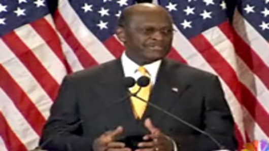 Herman Cain denies sexual harassment allegations.