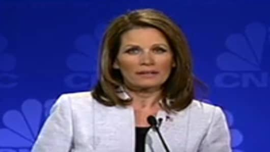 Michele Bachmann at the CNBC GOP candidates debate.