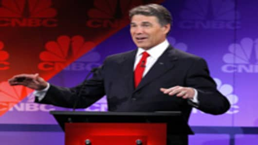 GOP Candidate Rick Perry at Presidential Debate