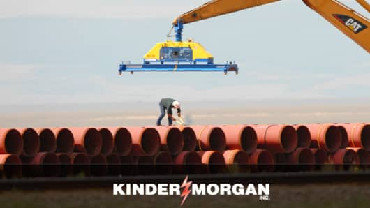 One of the largest pipeline transportation and energy storage companies in North America, Kinder Morgan owns more than 37,000 miles of pipelines and 180 terminals.