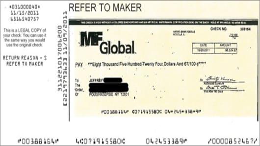 MF Global Bad Check