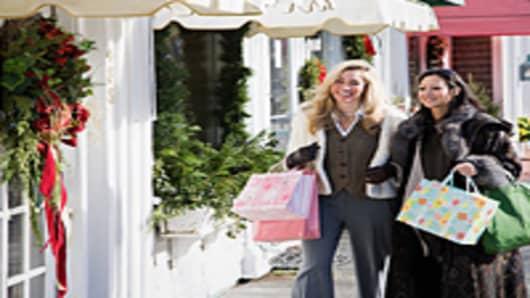 Women holiday shopping