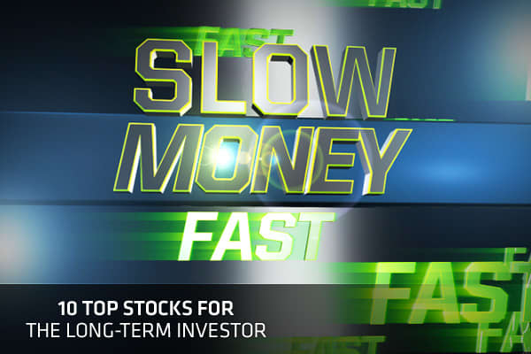 """Does the market seem almost schizophrenic to you? One day euphoria sends stocks surging, then the very next day fear sends investors running for the exits. Sick of it? We are, too. Here are our latest """"slow money"""" trades compliments of the Fast Money gang, as well as other top money pros. These are stocks to buy and hold for the long term, no matter what the market does tomorrow. So, what are the traders' top buy-and-hold picks? Click ahead to find out!"""
