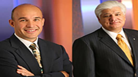 Jim Basilli and Mike Lazaridis CEOs RIM
