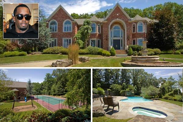 Location: Alpine, N.J.Price: $13,500,000Bedrooms: 7Bathrooms: 9 full, 1 partialSquare Footage: 17,000Diddy bought this Center Hall Colonial in New Jersey's  for $6 million in 2004, and for the second half of 2011 he's been trying to sell it for more than double his purchase price. The '90s-built  26 rooms include three master suites, indoor squash court, outdoor tennis court, gym and a movie theater.