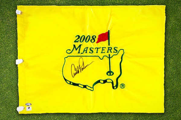 It's tough finding quality pieces from Arnold Palmer, since he's known for avoiding signings, according to SportsMemorabila.com. One of the greatest golfers, Palmer won 62 PGA Tour titles over the course of his career. The pin flag comes with a certificate of authenticity, and is priced at $329.99 on SportsMemorabila.com
