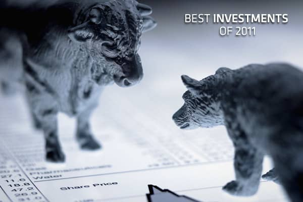2011 was a volatile year for investors: although the S&P 500 is on track to close the year relatively flat (up about 0.7%), the big money was made in non-traditional places. The following slides reveal the best investments in each category, from stocks and commodities, to currencies and companies with the best cash flows. If you made some of these investments, you were on the right track. If not, lessons learned in 2011 could prove profitable in the year ahead. All numbers are as of market close