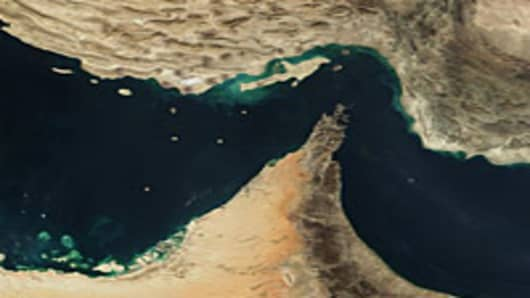 Straight of Hormuz satellite image