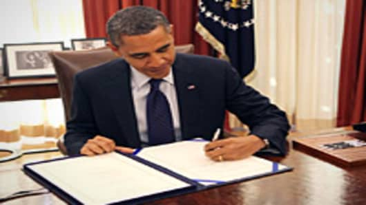 Barack Obama - Payroll Tax Extension signing