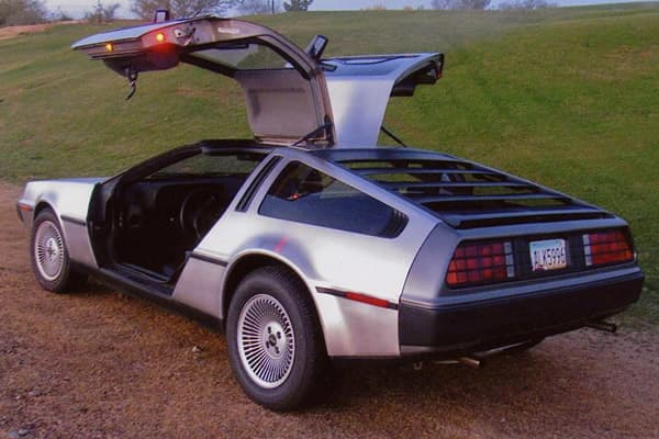 "Auction House:Barrett-Jackson Great Scott! Here's one that will take you ""Back to the Future"" at 88 mph. This 1981 DeLorean DMC-12 features a stainless steel body and gullwing doors, DeLoreans (only about 8,000 were made between 1981-1983) can command anywhere from $20,000 - $35,000, in ""very good"" and above condition. This one has no minimum selling price."