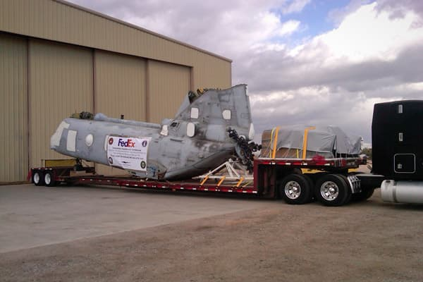 When the Dyersburg Army Airbase Veterans' Museum in Halls, Tenn., needed a Vietnam-era helicopter transported from Arizona, it called FedEx. CEO Fred Smith, who had served in the Marines, agreed to donate transportation and logistics expertise.The CH-46 U.S. Sea Night Marine Corps helicopter, which weighs 15,000 pounds and is 45 feet long, took three days to disassemble. It is one of only two of its kind available for public viewing.