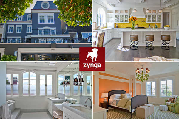 Location: San FranciscoCost: $8.9 millionBedrooms: 6Bathrooms: 7Square footage: N/AYou may build your fantasy real estate empire in CityVille, the popular Facebook game, but Mark Pincus has one in real life.Pincus, founder and CEO of Zynga, maker of CityVille, FarmVille, Words with Friends and other popular online games, and wife Alison Pincus, co-founder of One Kings Lane, a flash sales site for luxury home goods, are selling not one, but The couple has put their Presidio Heights home on the ma