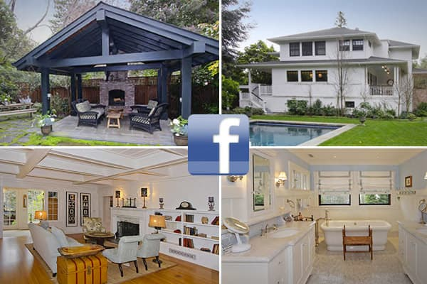 Location: Palo AltoCost: $7 millionBedrooms: 5Bathrooms: 5 full, 2 halfSquare footage: 5,617Mark Zuckerberg's new digs are a long way from the Harvard dorm where he and his classmates founded the popular social networking site Facebook.The baby-faced CEO plunked down a cool $7 million for the Palo Alto pad last year, which includes a salt water pool and spa. Still, to some, it's considered modest, given that Facebook is looking to go public this year in what some say could make the social networ