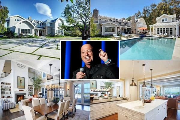 """Location: Malibu, Calif.Price: $7.25 millionBedrooms: 6Bathrooms: 7 Square Footage: 5,936It's been years since Howie's standup days of inflating the rubber glove on his then-curl-topped head, and maybe that's for the best. We're thinking this Cape Cod style- beauty he recently put  probably owes more to his latter-day and present- day gigs as host of """"Deal or No Deal"""" and """"America's Got Talent.""""Dominating the interior is the airy great room, with its soaring ceiling and built-"""
