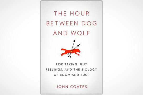 "By: John CoatesPages: 368Publisher: Penguin PressPublication Date: June 2012Price: $27.95Long before he took up the science of risk taking – John Coates lived it – running a derivatives desk in New York. While there, he witnessed what he called ""the hour between dog and wolf,"" those moments when traders were literally transformed before his eyes – flying high and taking big risks when their trades were going great, to cowering in the corner almost afraid to move when their trades went south.Coat"