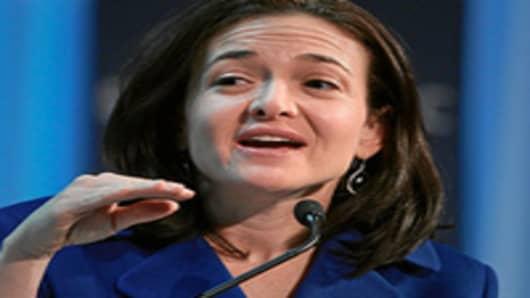 Sheryl Sandberg, Chief Operating Officer of Facebook.