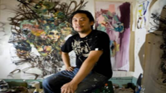 Artist David Choe, who painted murals at the headquarters of Facebook Inc. in exchange for company stock.