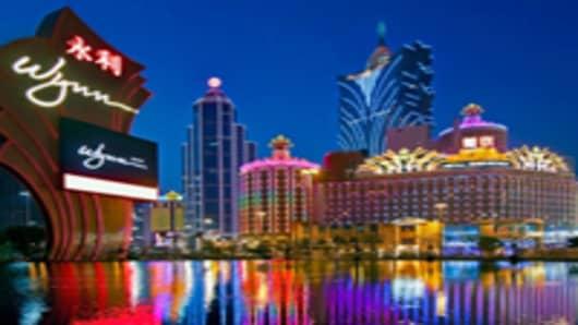 Macau's casinos at dusk