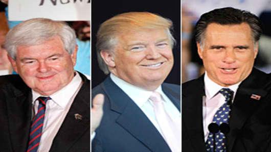 Newt Gingrich, Donald Trump, Mitt Romney