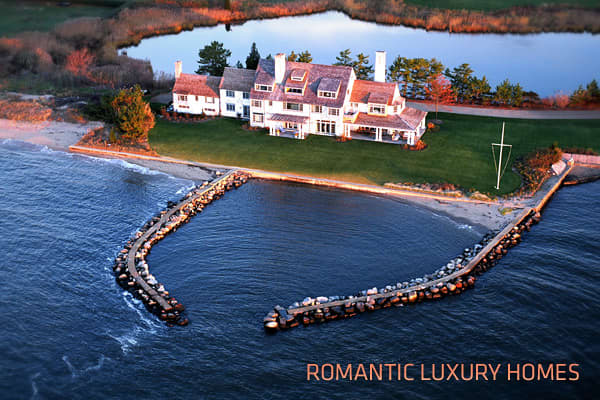 Romance, like beauty, is often in the eye of the beholder. What makes a home romantic to one might not appeal to someone else. With this in mind,  scoured luxury listings to make a list of homes with attributes that could appeal to varying tastes.Three of these extraordinary properties were the homes of celebrities who have had legendary love affairs. Others have histories of love that sometimes traveled to other continents, and/or were made with materials sourced from the old country. Others ju