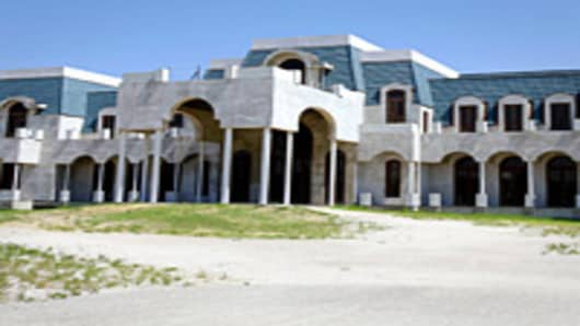 "Unfinished mansion nicknamed ""Versailles"" up for sale ""as is"" by owner and timeshare tycoon David Siegel in Windermere, Florida."