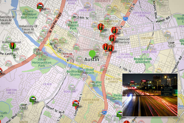 "Law enforcement in the capital of Texas has a reputation for handing out speeding tickets to motorists only 1 to 3mph over the posted limits, says Farrell. ""Trapster users have posted on Trapster's Facebook page that many speed limits drop quickly, and happen to have heavy police 'speed enforcement' in those areas."""