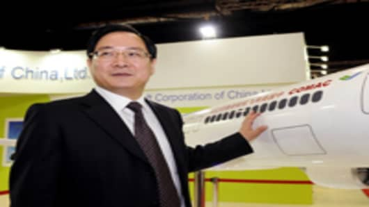 Jin Zhuanglong, chairman of Commercial Aircraft Corp. of China (Comac)