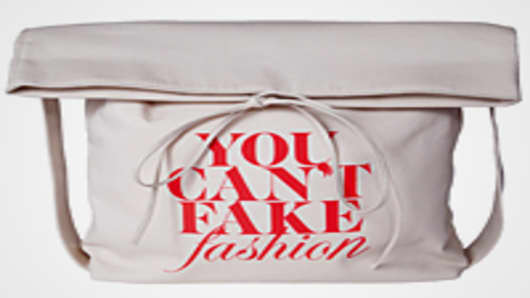 'You Can't Fake Fashion' Bucket Tote