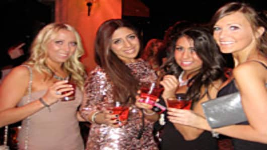 Jenna Houssian, Talhia Pompa, Lameese Elinei and Alanna Webber at Hyde Nightclub.
